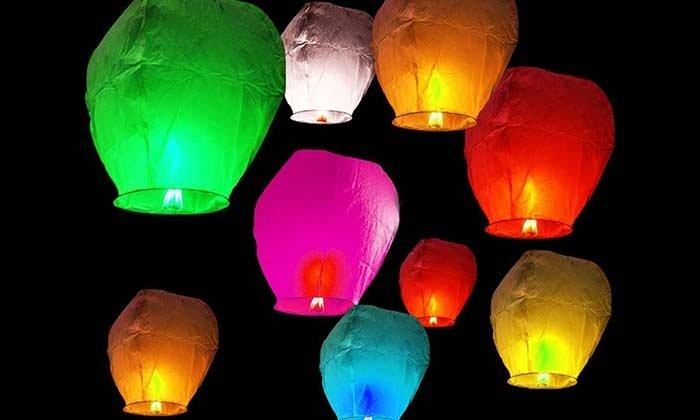 lampioane zburătoare colorate